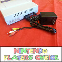 Power Ac Adapter + Av Cable - For The Super Nintendo Snes Systems