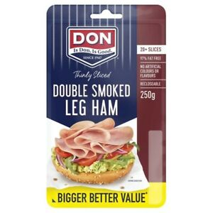 Don Double Smoked Sliced Ham 250g