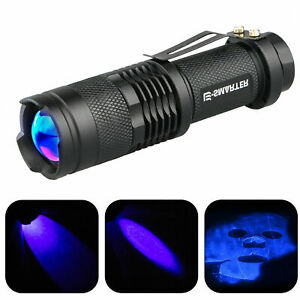 365nm-LED-High-Powered-UV-Lamp-Black-Light-Ultra-Violet-Flashlight-Super-Bright