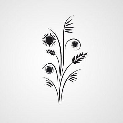 F1 Fennel Flower BIG SIZES Reusable Stencil Wall Decor Shabby Chic Style
