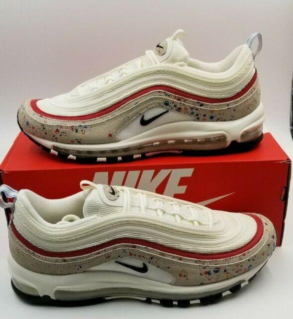 Nike Air Max 97 Premium Sailblack university Red Size Men's 10 312834 102