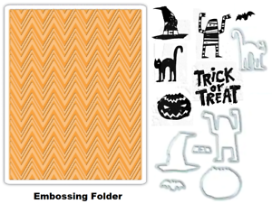 Tim-Holtz-Sizzix-Framelits-Dies-amp-Stamps-amp-Embossing-Folder-Halloween-Mummy