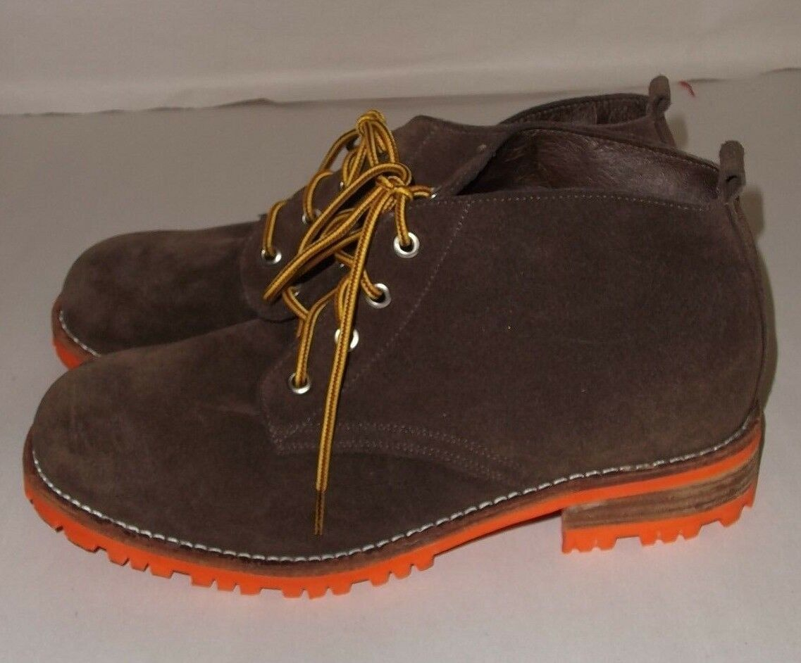 Jeffrey Campbell Brown Suede Bush Hiking Boot Urban Outfitters Size 9 New Defect