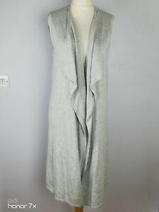Hush-Grey-Long-Line-Cotton-Drape-Waterfall-Sleeveless-Cardigan-Plus-Size-L-16