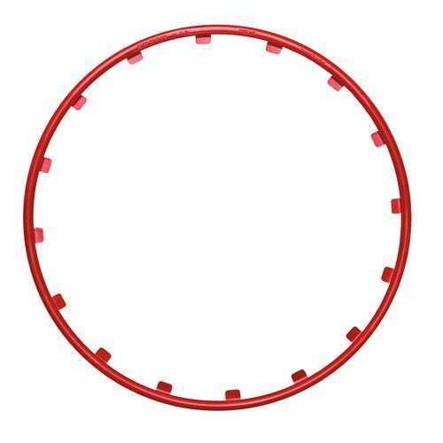 """Rosso Ø 16/"""" Set 4 protezioni per cerchi in lega Rim Ringz™"""