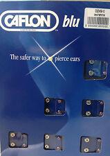CAFLON 12 PAIA CRISTALLO COLOR ARGENTO 4mm PIERCING ORECCHIO A PERNO APRILE