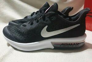 Détails sur Nike Air Max Sequent 4 (GS) Baskets Baskets AQ2245 001 Noir UK 6 EUR 39 afficher le titre d'origine