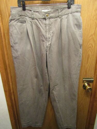 MENS BUGLE BOY COMPANY 100% COTTON PLEATED GRAY PA