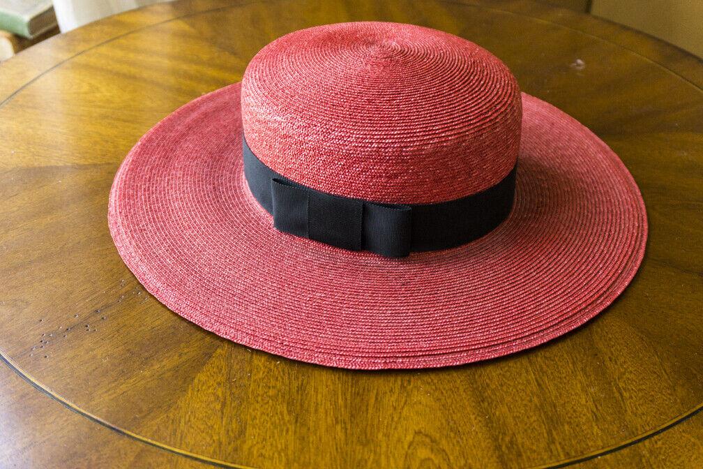 Bonwit Teller - Vintage  Straw Summer Hat - Wide … - image 5