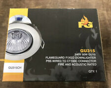 6 x Click GU315WH /'Ovia/' Fire Rated Fixed Downlights GU10 White
