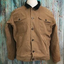 Patagonia Vintage Men's Chore Coat Barn Jacket Fleece Lined Corduroy Trim Size L