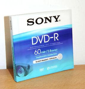 SONY MINI DVD DOUBLE SIDED DVD-R 2,8 GB. 60 MINUTES NEW   eBay c754cc534b63