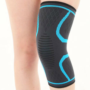 3197ef523a Image is loading Elastic-Compression-Sleeve-Knee-Brace-Support-Sports-Gym-