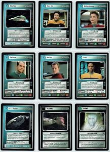 STAR TREK CCG VOYAGER COMPLETE SET OF 49 RARE CARDS, no AI variants