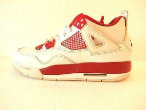 b7c4ae82e5a431 Nike Air Jordan 4 IV Retro Alternate 89 Wht Red Sz 7y   Womens Sz ...