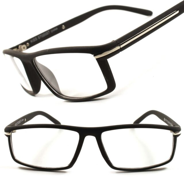 Designer Fashion Stylish Mens Womens Black Clear Lens Eye Glasses Frames D13