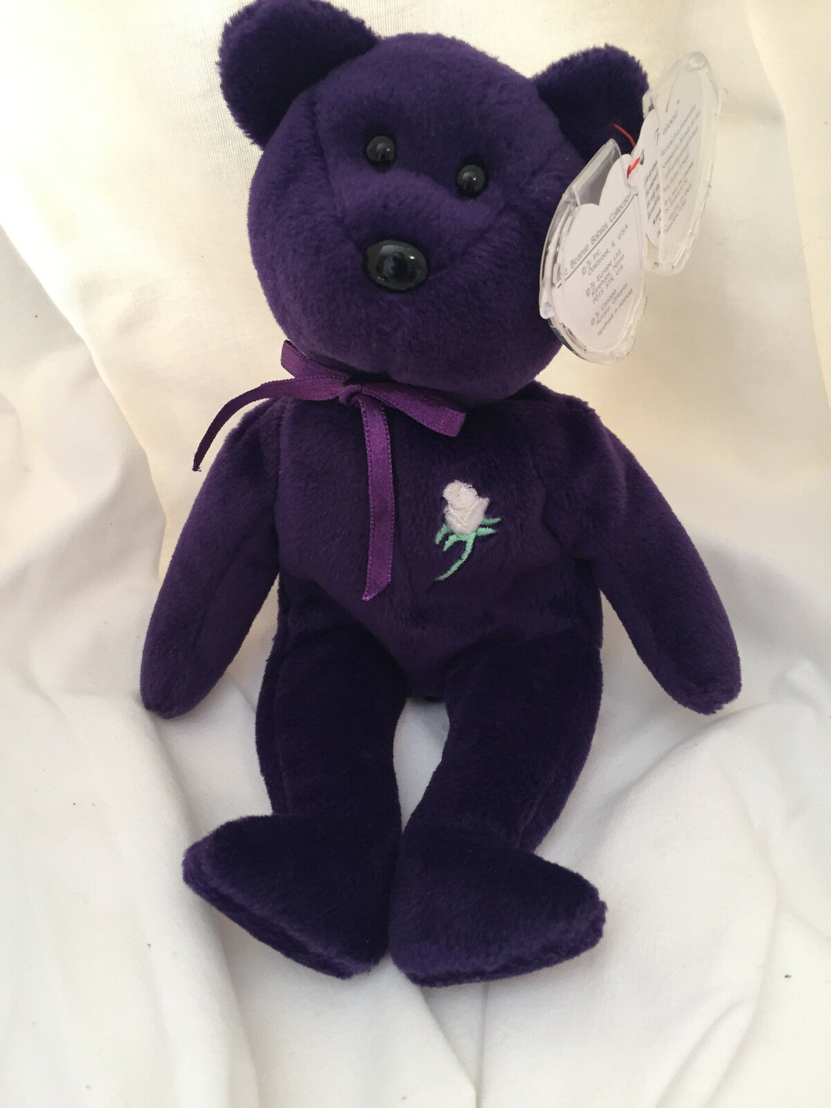 PRINCESS DIANA 1st Edition Beanie Baby (Ghost Version) PVC, MUST READ