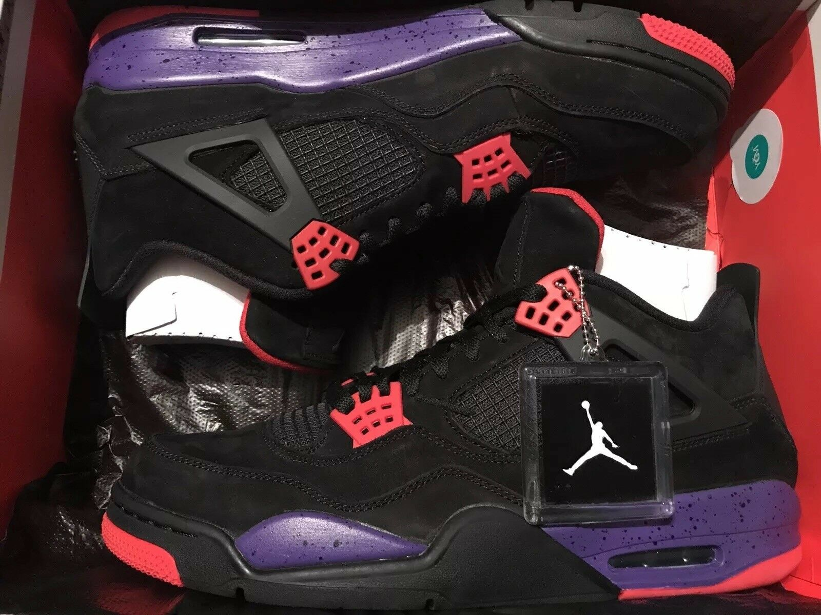new style 190a6 1d75e Air Jordan 4 Retro NRG Raptor Court Purple Aq3816-065 Size 13 DS Limited
