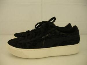 Details about Womens 8 M Puma Vikky Black Platform Velvet Rope Shoes Sneaker Soft Foam Comfort