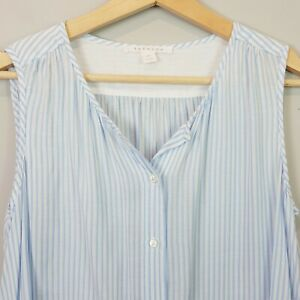TRENERY-Womens-Striped-Button-up-Blouse-Top-Size-XS-or-AU-8-US-4