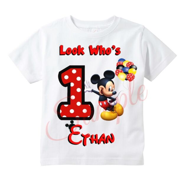 Custom Mickey Mouse T Shirt Personalize Birthday Gift Favor Party For Sale Online