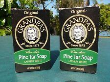 "Grandpa's Pine Tar Soap 4.25 oz. Bar.  2- Bars  ""Original"""