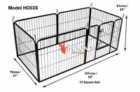 Heavy Duty 6 Piece Puppy Dog Play Pen Run Enclosure Welping Pen Playpen HD03S