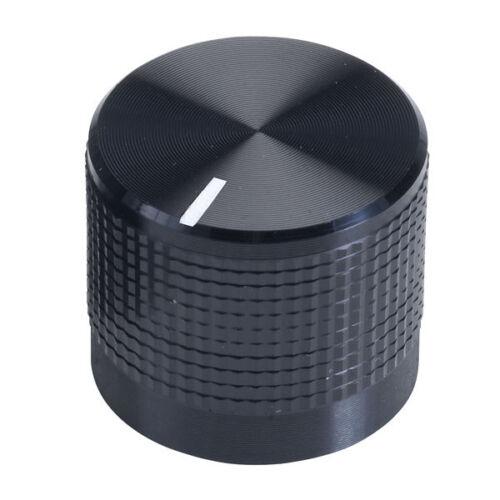 Noir recouvert d'aluminium bouton en plastique pour 6mm solidaire arbres falaise Marqueur de ligne