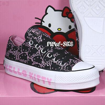 black hello kitty converse