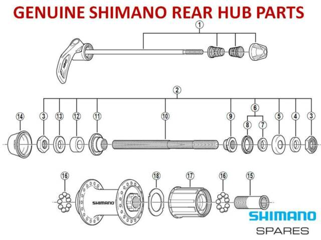SHIMANO CASSETTE FREEHUB BODY,CONE,AXLE,SEAL,SKEWER for 8/9/10 SPEED REAR HUBS