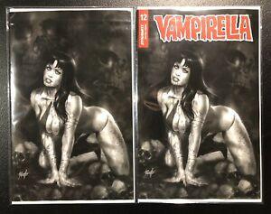 VAMPIRELLA-12-LUCIO-PARRILLO-SET-OF-2-1-10-amp-1-50-B-amp-W-Virgin-Variant
