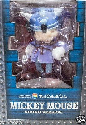 New Medicom Toy TVCD VINYL COLLECTIBLE  Mickey Mouse Viking DOLL