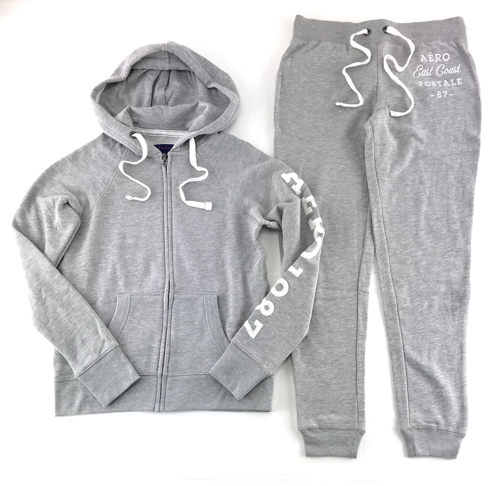 Aeropostale Womens Hoodie Hoodie Hoodie and Sweat Pants Set Aero Zip Jogging Suit Jogger bcfde7