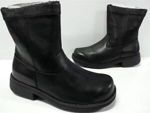 NIB Mens Propet RYAN Side Zipper Winter / Snow Boots MB109 Black ...