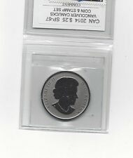 **2014 Vancouver Canucks*Coin Mart Graded Canadian, 25 Cent,**SP-67*Coin & Stamp