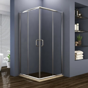 Bathroom Sliding Glass Shower Doors.Details About Elegant 36 X 36 X 72 Double Sliding Glass Shower Enclosure Chrome Finsih