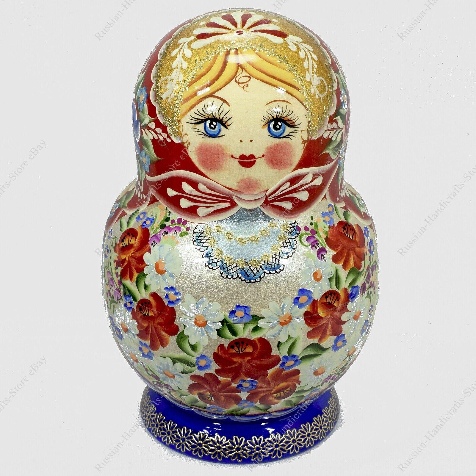 15 Teile Set Atemberaubend Russisch Authentisch Matroschka Puppen
