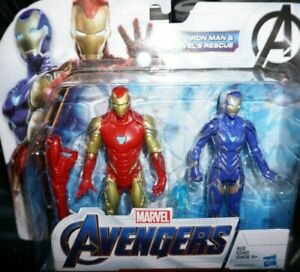 Marvel-Legends-6-034-Endgame-IRON-MAN-MK-85-SUIT-RESCUE-PEPPER-POTTS-2-Pack-INSTOCK