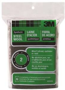 NEW-3M-10116-PACK-5-Steel-Wool-Pads-2-Grit-Medium-Metal-6162507