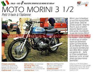 Morini 3 1/2 ( 350 3 ½ ) 1973 Fiche Moto 000214 5u7w1pkl-07225003-658326108