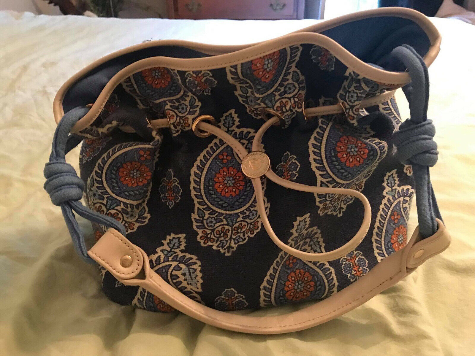 Spartina NWT Boheme Classic Drawstring Bag With Coin/ID Pouch