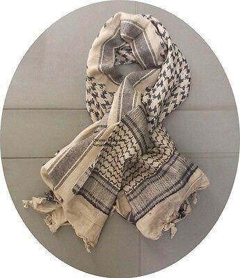 Plo Tuch Fransentuch Palästinensertuch Sand-schwarz Shemagh Headwrap Scarf Sparen Sie 50-70%