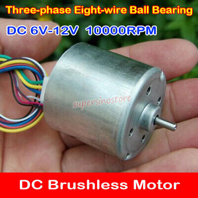 5V-12V 3-phase Mini Brushless Motor Large Torque DIY RC Aircaft Drone Quadcopter