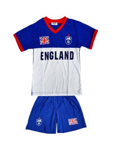BNWT England Football Summer Boys Shorts Set Top Kit Set Size Age 1-14 Years
