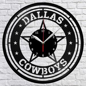 Image Is Loading Dallas Cowboys Football Vinyl Record Wall Clock Fan