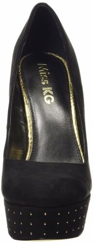 Aggy Shoes Black 5 4 Kg Heel Platform Rrp Suede New Size High £80 F Miss Court Zw4w0F