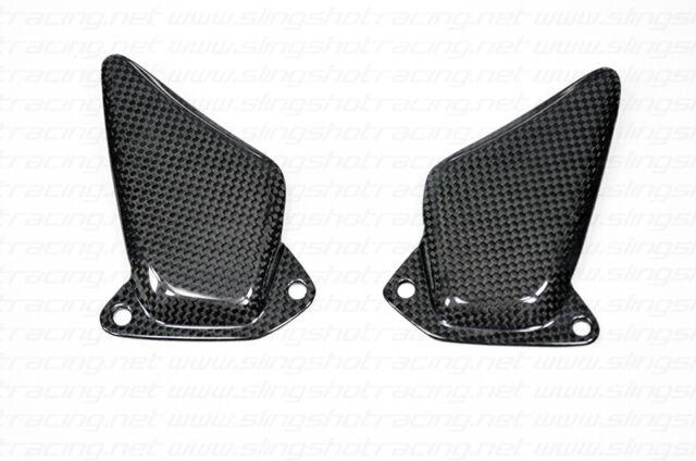 New Ducati ST2 ST3 ST4 Heel Foot Guard Plate Shield Protector Carbon Fiber Fibre