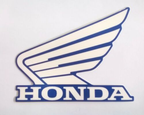 Honda  Wing Fuel Tank Decal Wings Sticker 2 x 80mm WHITE /& LIGHT METALLIC BLUE