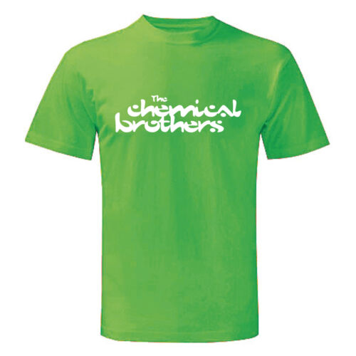 Verde Uomo Man Maglietta Chemical Brothers Art T-shirt