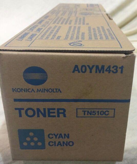 GENUINE Konica Minolta TN-510C Cyan Toner Cartridge for Bizhub PRO C500